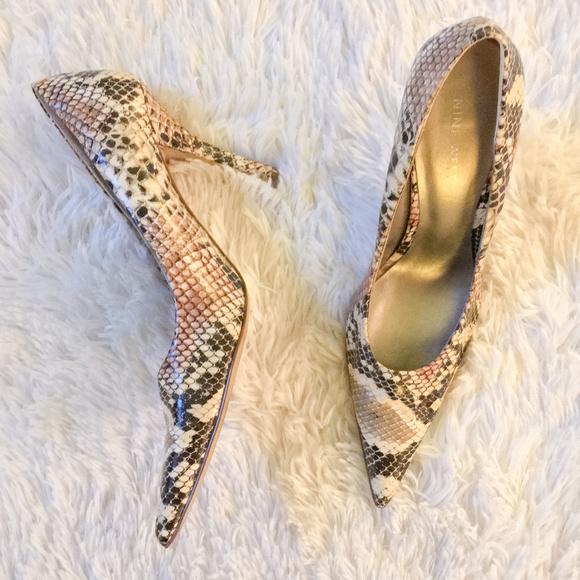 b25653089f Nine West Shoes | Women Snakeskin Pump Brown Pointed Toe 7 | Poshmark